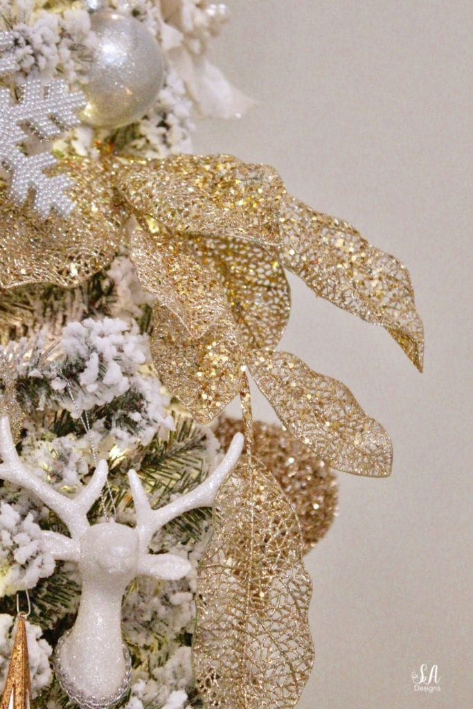 gold leaves christmas stems
