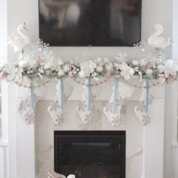 Whimsical Glam Christmas Mantel In Pastels