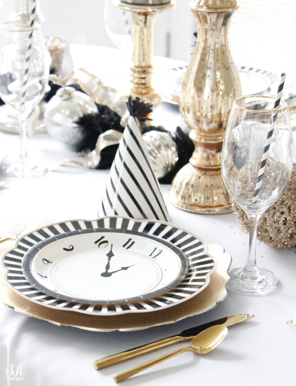 New Years Eve Tablescape Fun Game Ideas Summer Adams