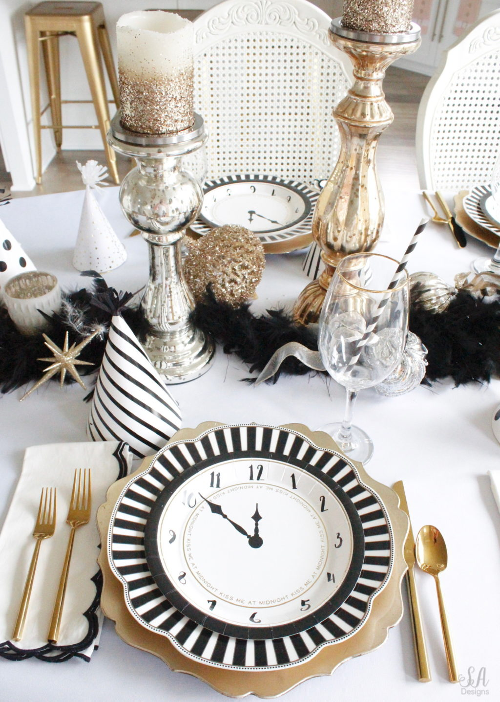 New Years Eve Tablescape Fun Game Ideas 3 Summer Adams