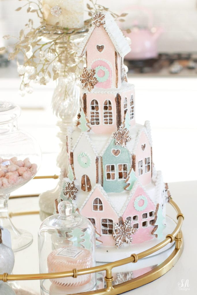 peggy porschen london gingerbread stacked house cookies cake decoration home goods