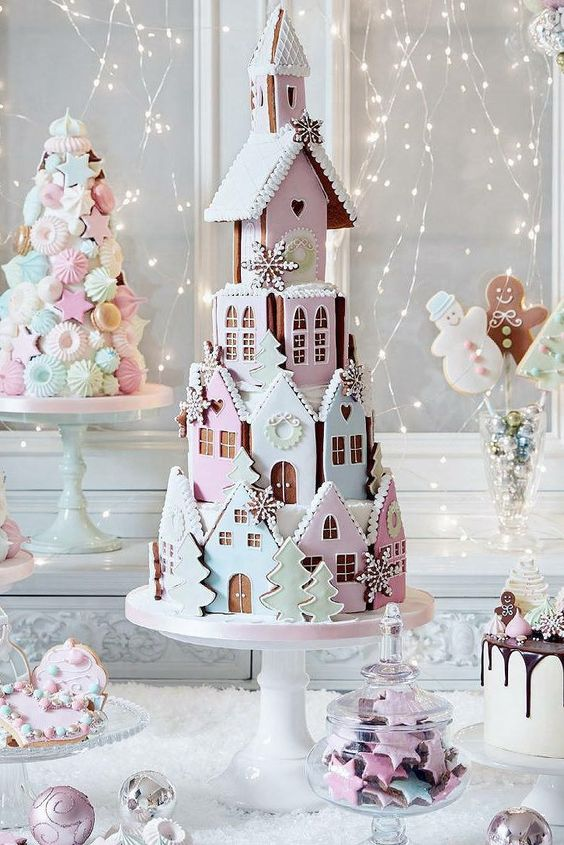 peggy porschen londen gingerbread house cookie stacked cake