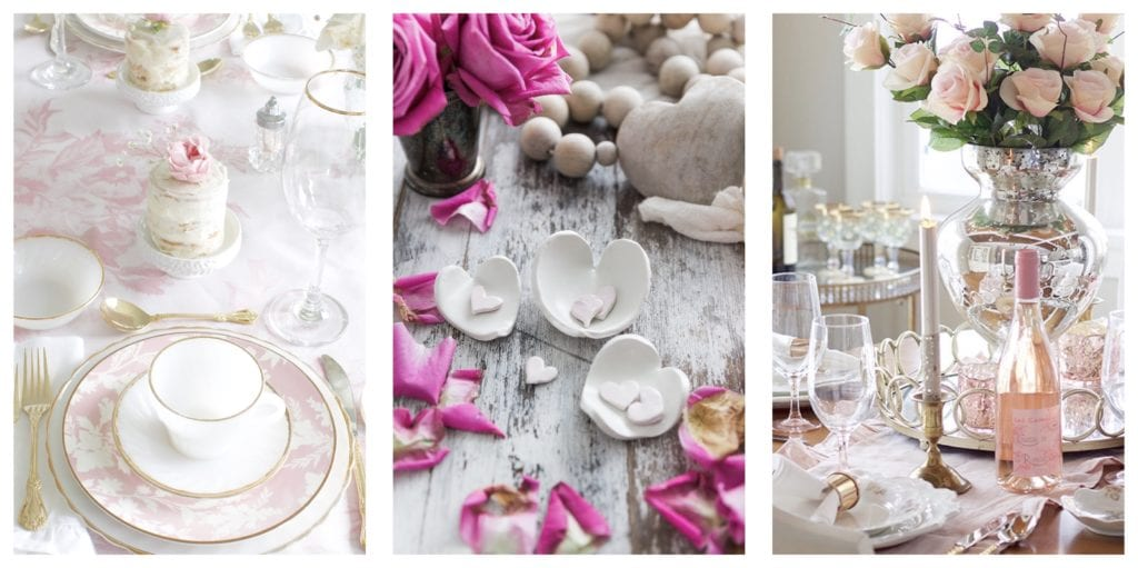 Valentine's Day decorating ideas tables table settings