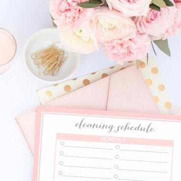 Free Pink To-Do List & Cleaning Schedules Printables