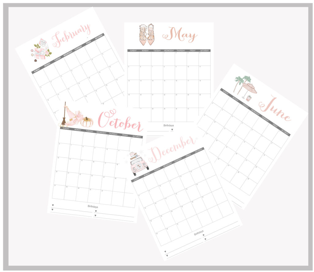 Printable Monthly Calendar | Stylish 2019 Printable Monthly Calendars Free Summer Adams