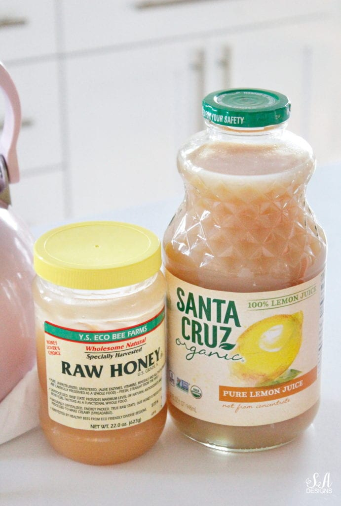 Starbucks copycat medicine ball recipe at home, Starbucks copycat citrus defender recipe at home, raw honey, Santa Cruz organic 100% pure lemon juice not from concentrate