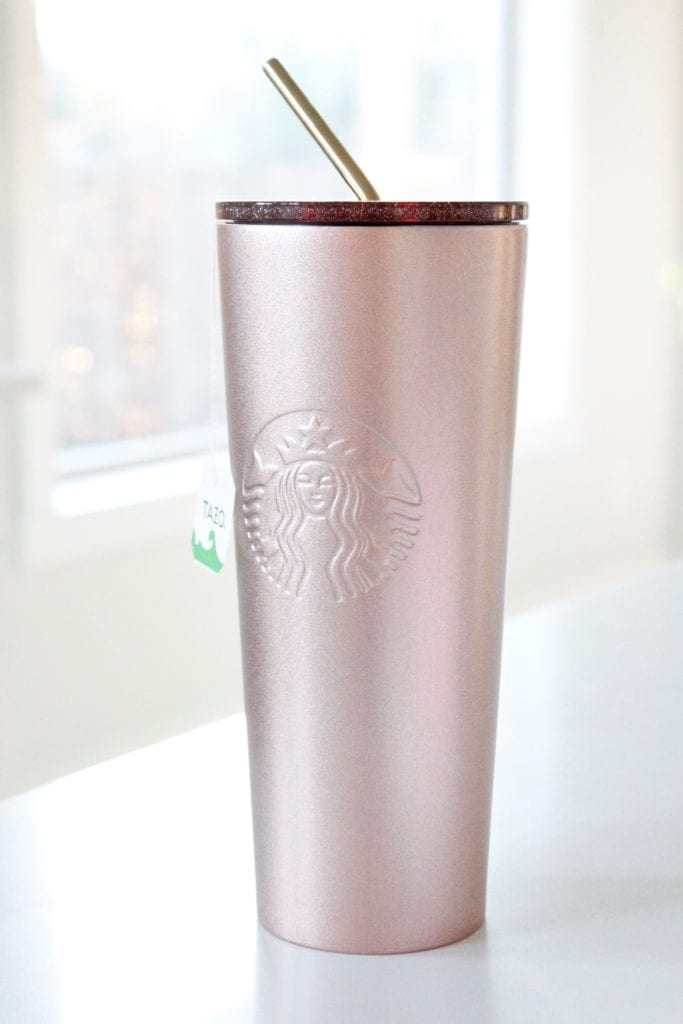 starbucks venti double insulated wall tumbler, rose gold metal,Starbucks copycat medicine ball recipe at home, Starbucks copycat citrus defender recipe at home