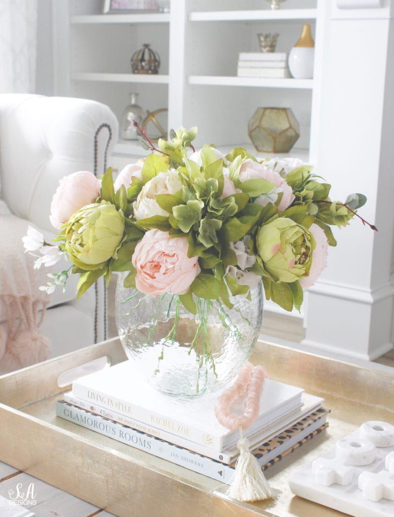 the best faux florals, prettiest faux peonies, where to find faux florals and how to mix them with real fresh florals