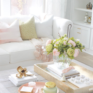 Blush & Green Spring Tour With Fresh & Faux Florals