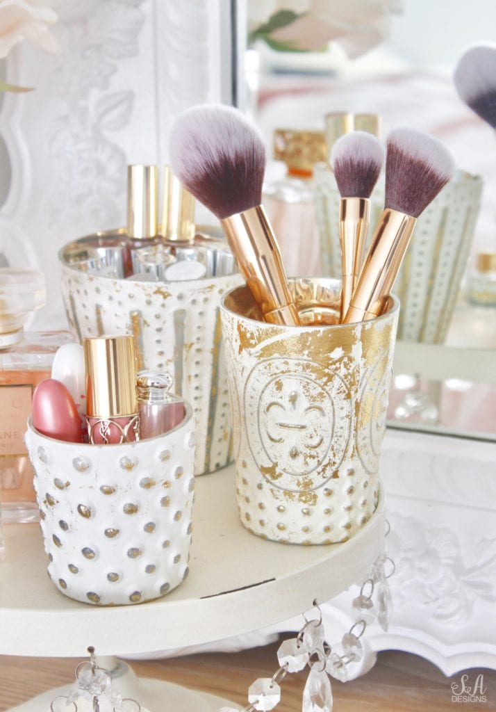 pottery barn jewelry storage organizers, organize and style your vanity and bathroom, jewelry storage, makeup storage ideas, perfume display ideas, elegant chic classy glamorous vanity