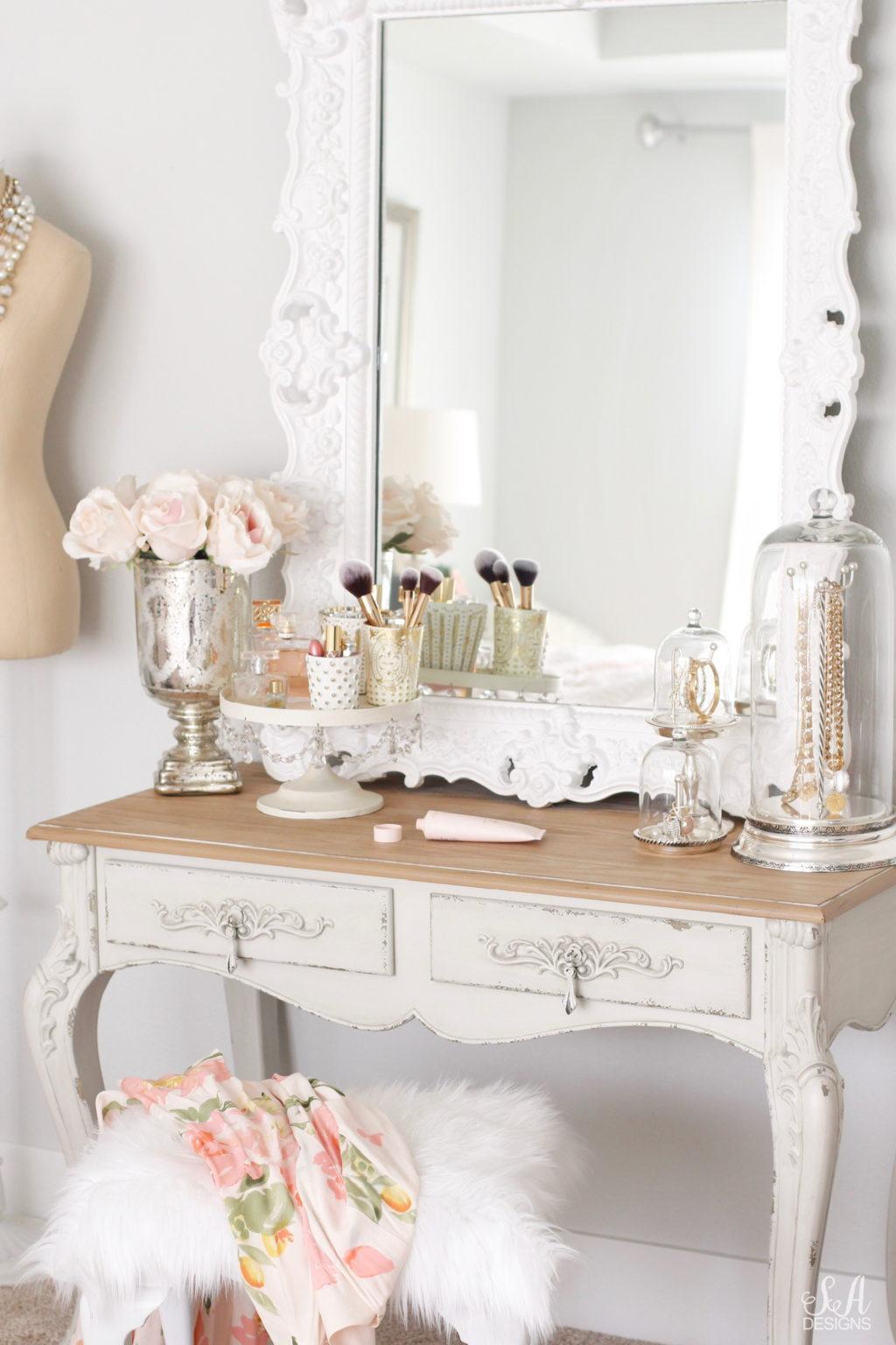Tips To Organize Style An Elegant Vanity Summer Adams