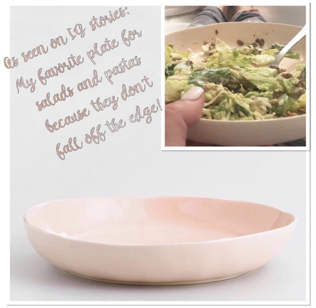 world market blush pink soup bowl plate