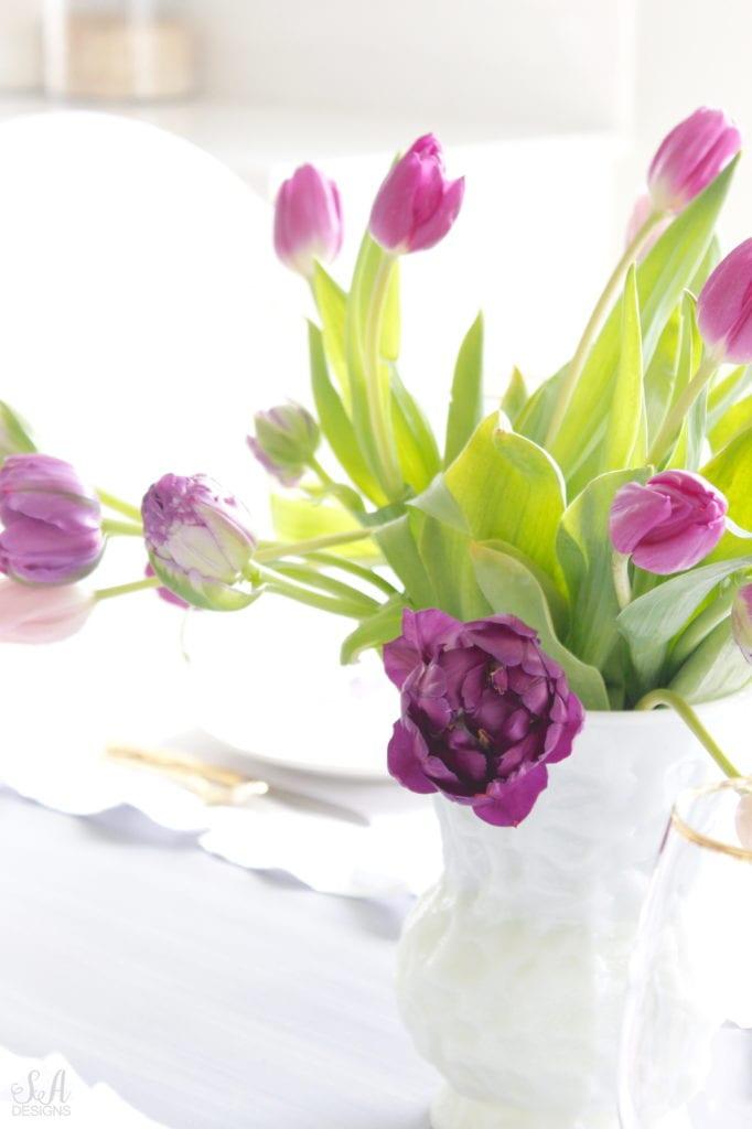 purple double peony tulips, purple lavender tulips