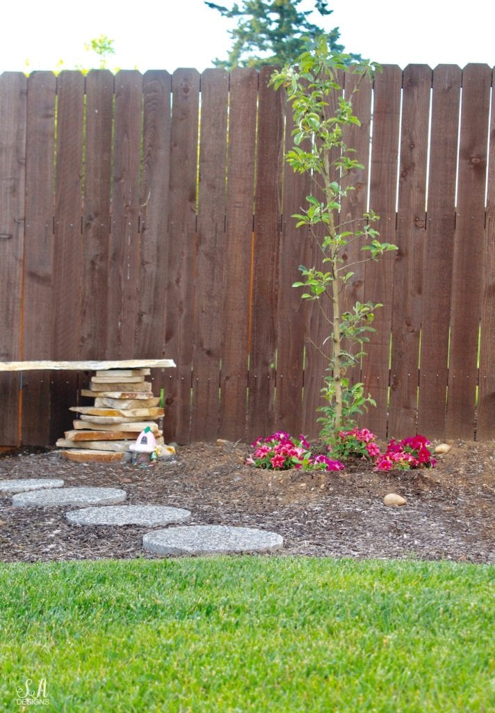 diy stone bench, fairy garden, pacific northwest gardening