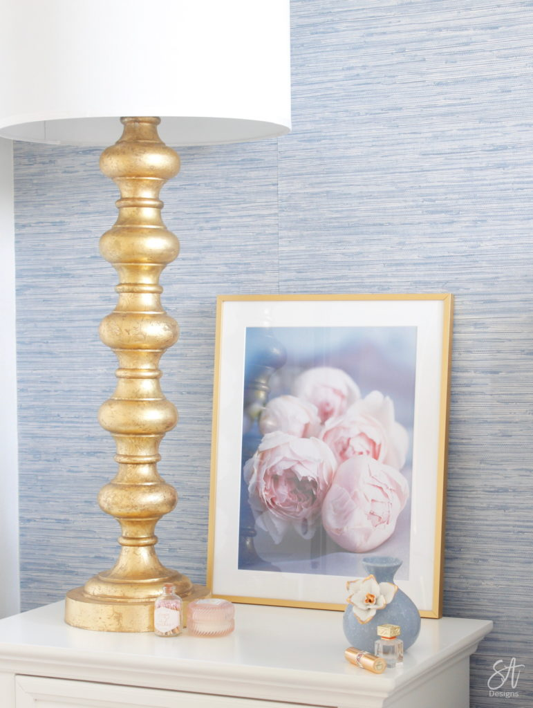 Pink and blue floral framed wall art, affordable wall art, art.com, Walmart, elegant wall art, classy wall art, guest bedroom