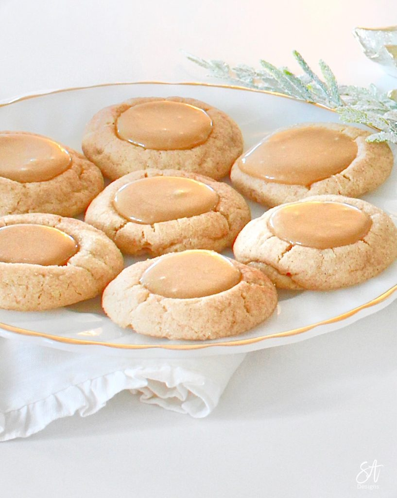 Cookie recipe, Christmas cookies, Christmas cookie recipe, Christmas recipes, snickerdoodle recipe, best easy snickerdoodle recipe, homemade caramel recipe, caramel thumbprint cookies, the best Christmas cookie recipe