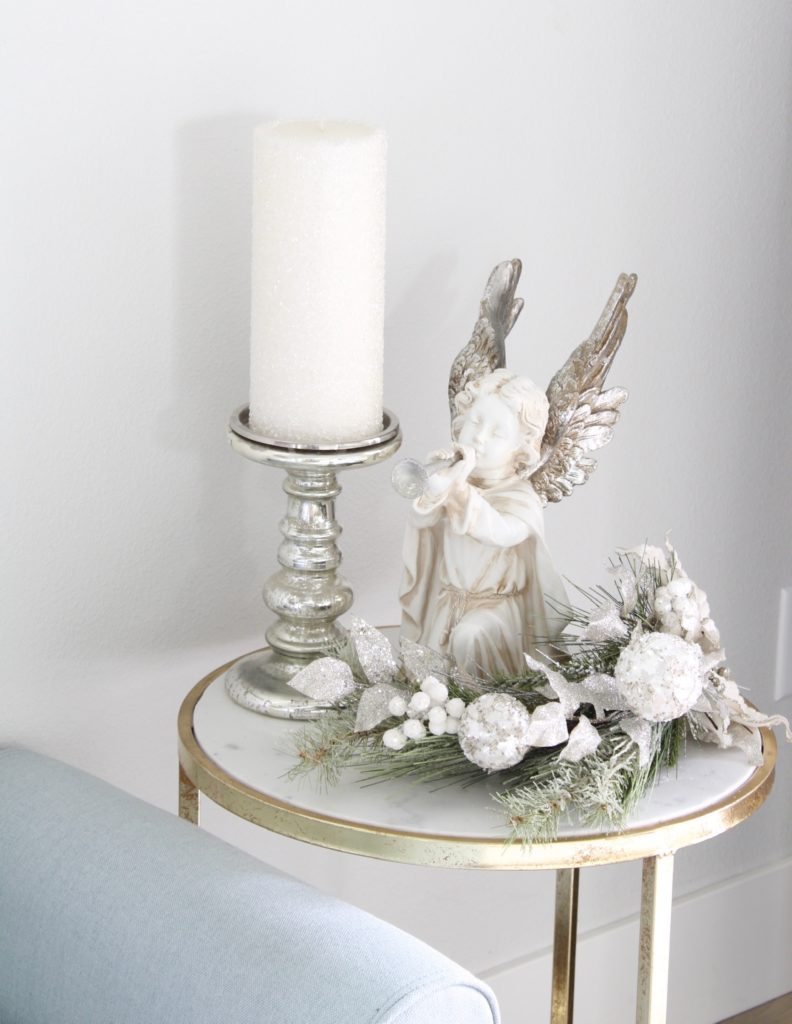 silver gold champagne elegant angel decor