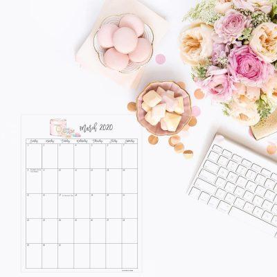 Free 2020 Stylish Printable Calendar