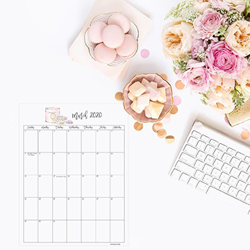 Free 2020 Stylish Printable Calendar