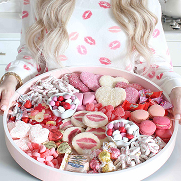 How To Create The Prettiest Dessert Board For Valentine's Day
