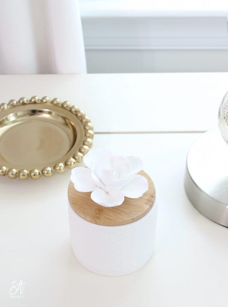 essential oils, floral ceramic diffuser, bedroom oasis,